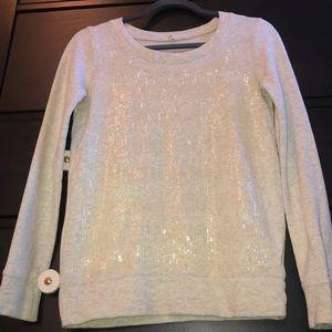 J Crew Sequin Sweatshirt